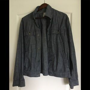Save Khaki United Chambray Jacket Size Medium